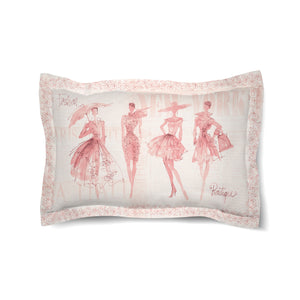 Fashion Sketchbook Pink Duvet Sham