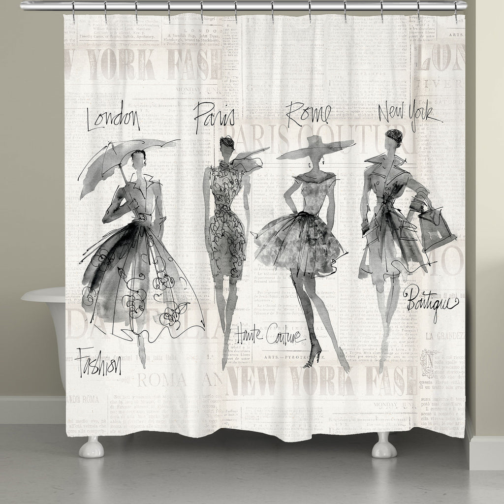 Fashion Sketchbook Shower Curtain