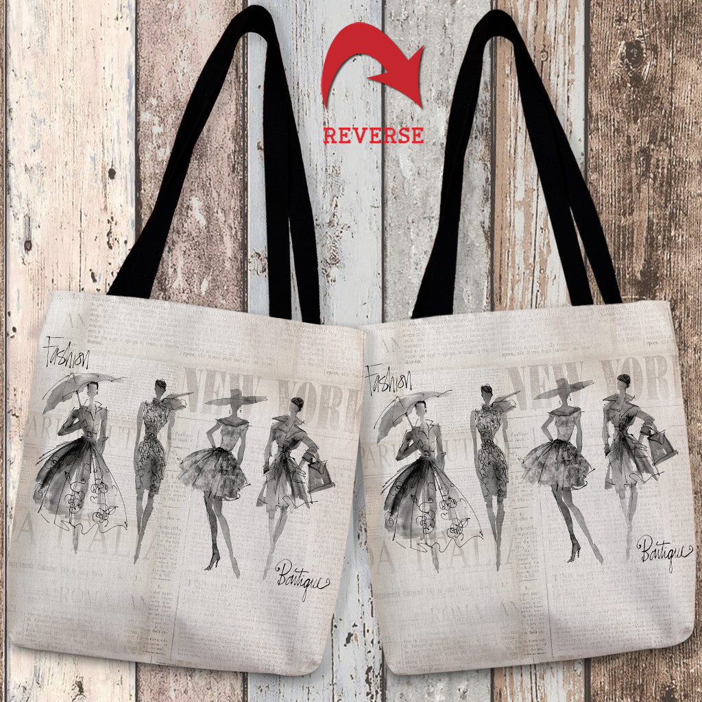 Fashion Sketchbook Canvas Tote Bag