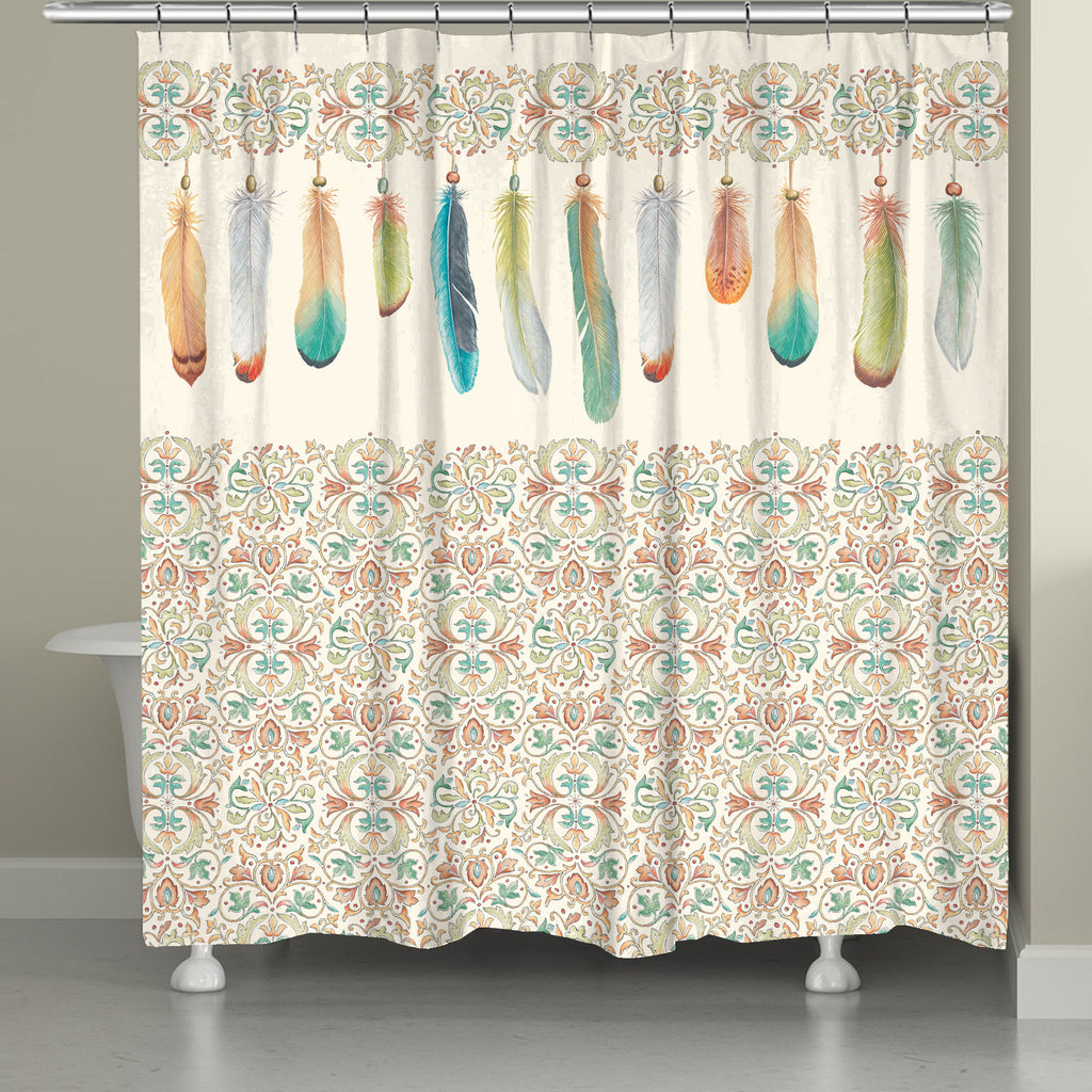 Feathers Shower Curtain Laural Home