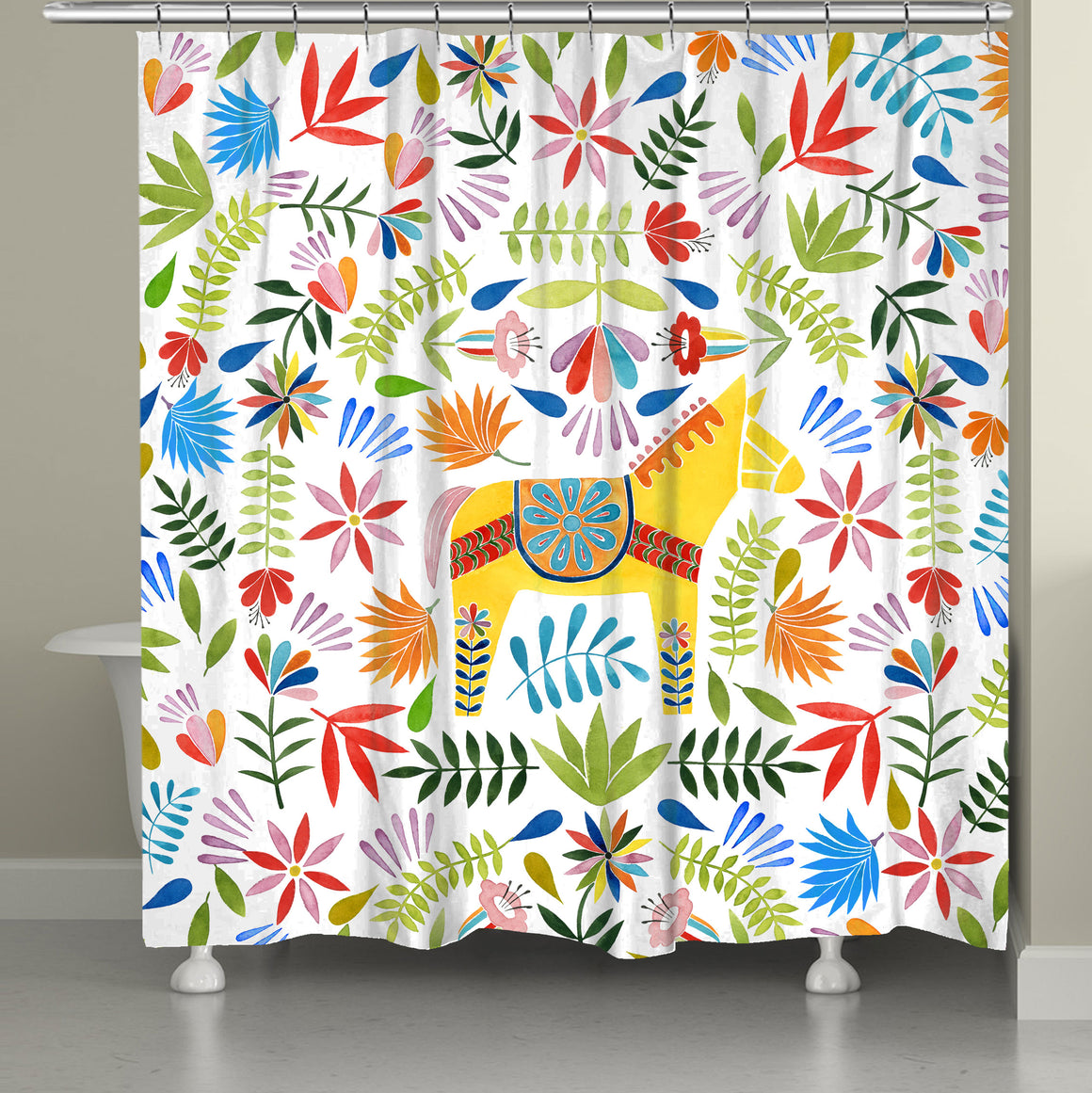 Fiesta Animal Shower Curtain