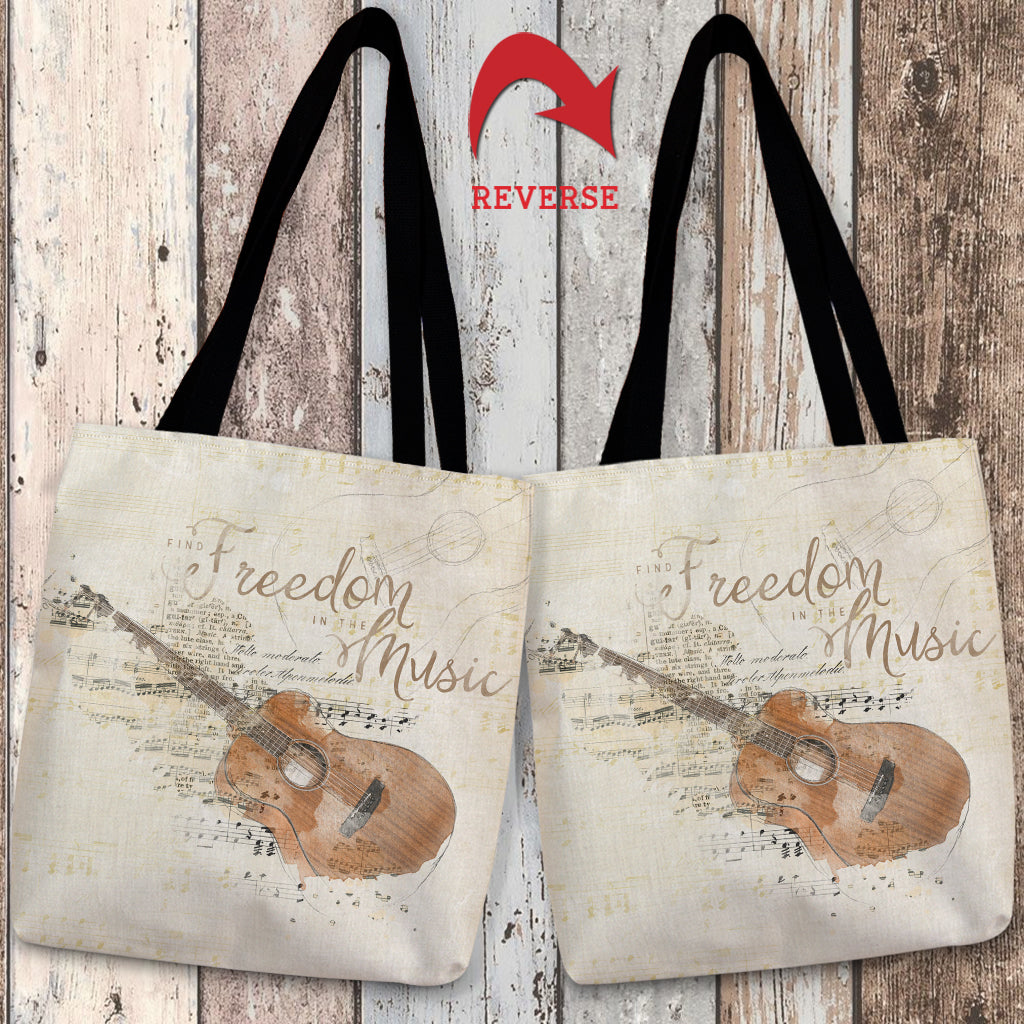 Find Freedom in the Music Tote Bag