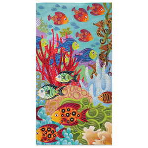 Fish In The Hood Beach Towel