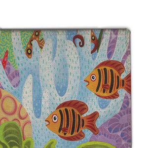 Fish in the Hood Accent Rug