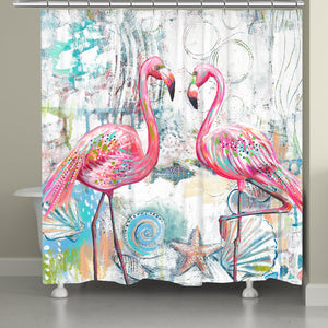 Flamingo of the Seas Shower Curtain