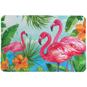 Flamingo In The Tropics Memory Foam Rug