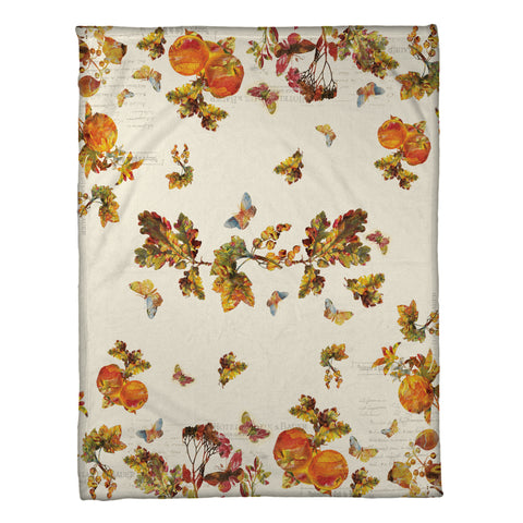 Antique Autumn Fleece Throw