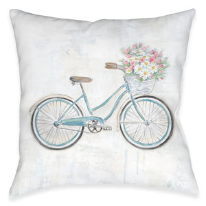 Vintage Bike Outdoor Decorative Pillow