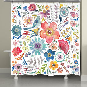 Floral Bling Shower Curtain