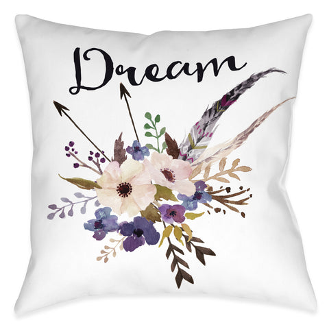 Watercolor Flowers Dream Indoor Decorative Pillow