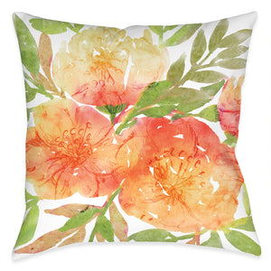 Sunrise Florals Outdoor Decorative Pillow