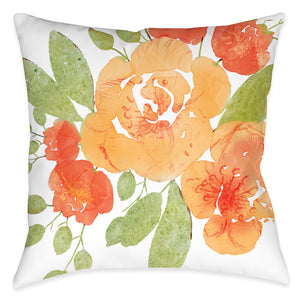 Floral Burst Outdoor Decorative Pillow