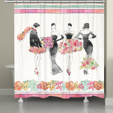 Floral Fashion Shower Curtain