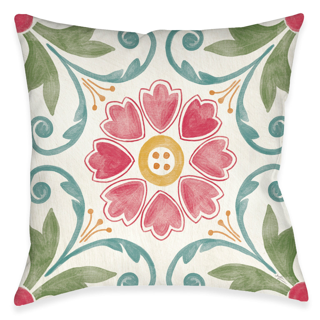Floral Medallion Indoor Decorative Pillow