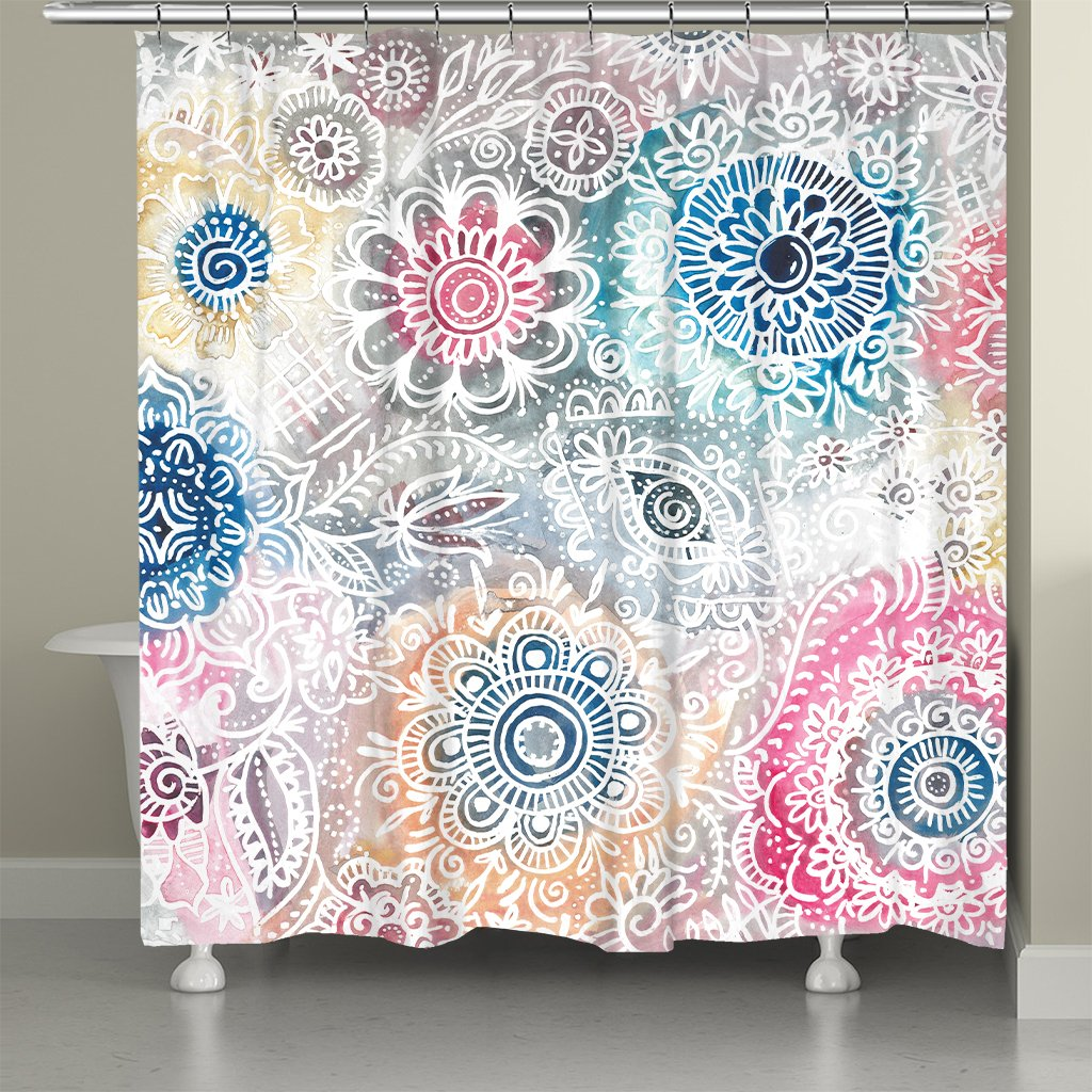 Floral Sketch Shower Curtain