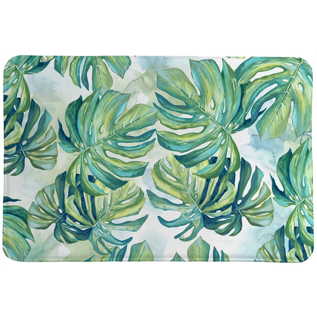 Flourishing Shades Of Green Memory Foam Rug