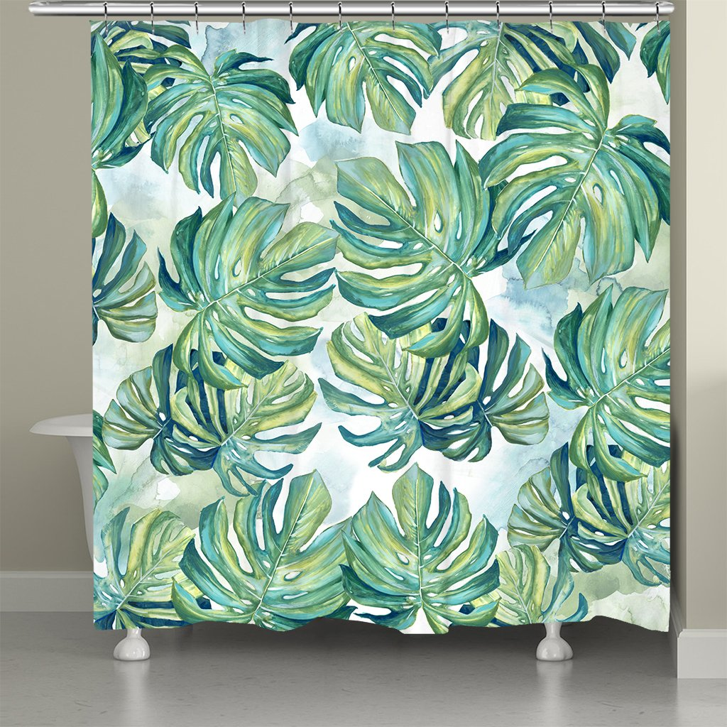 Flourishing Shades Of Green Palms Shower Curtain