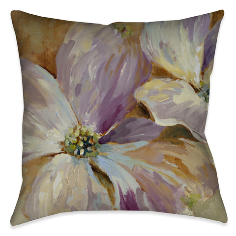 Flower Song I Outdoor Decorative Pillow