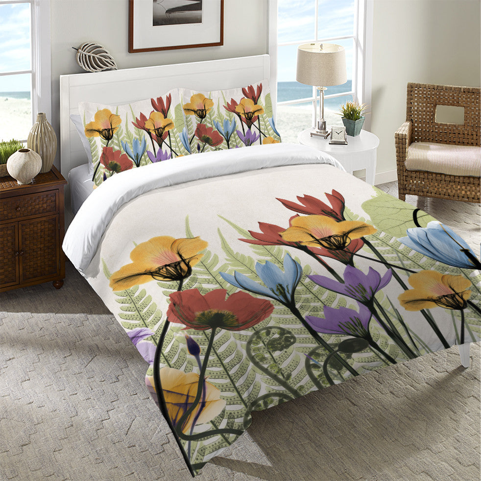 Flourishing Botanicals Duvet Cover