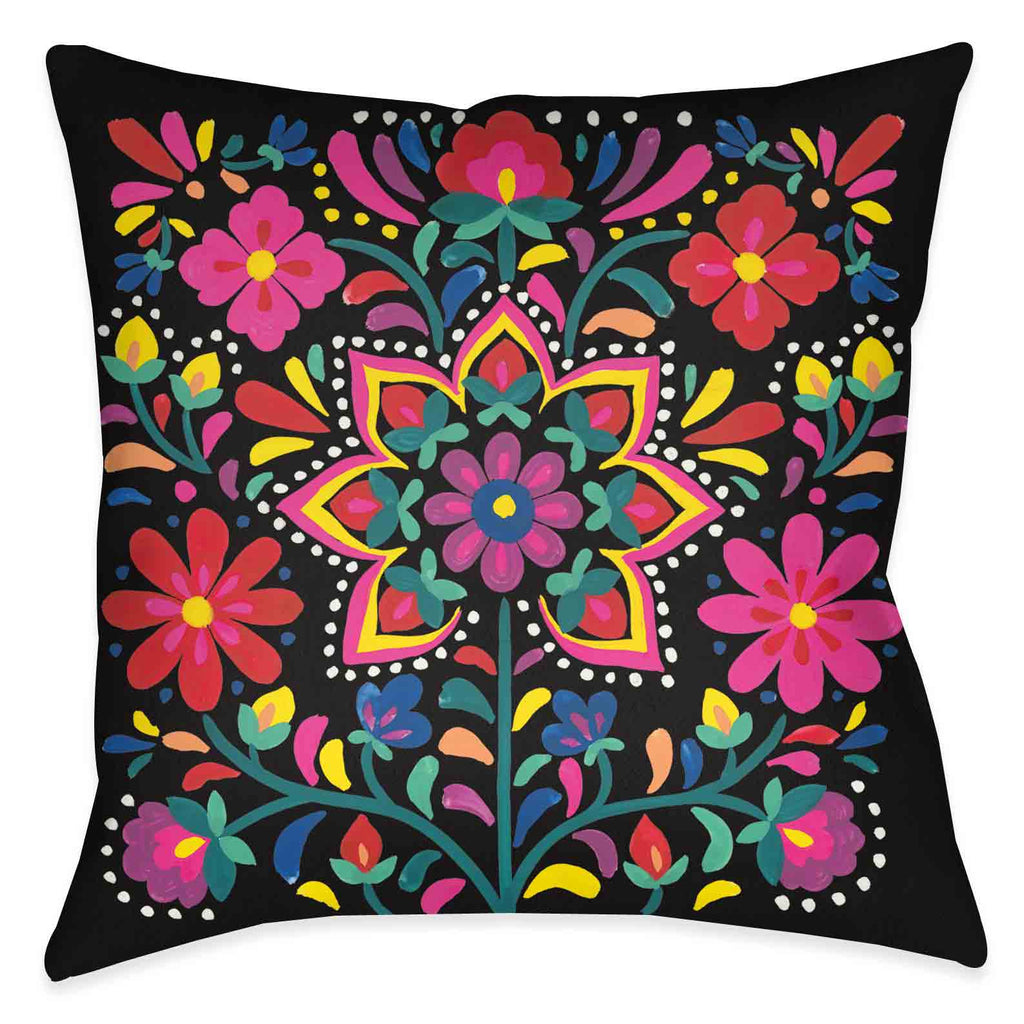 Folk Art Floral III Indoor Decorative Pillow