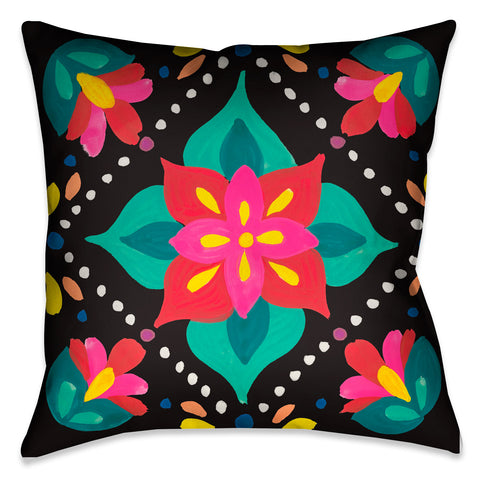 Folk Art Floral II Indoor Decorative Pillow