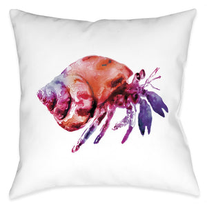 Galaxy Hermit Crab Outdoor Decorative Pillow