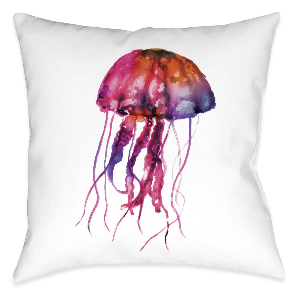 Galaxy Jellyfish Outdoor Decorative Pillow