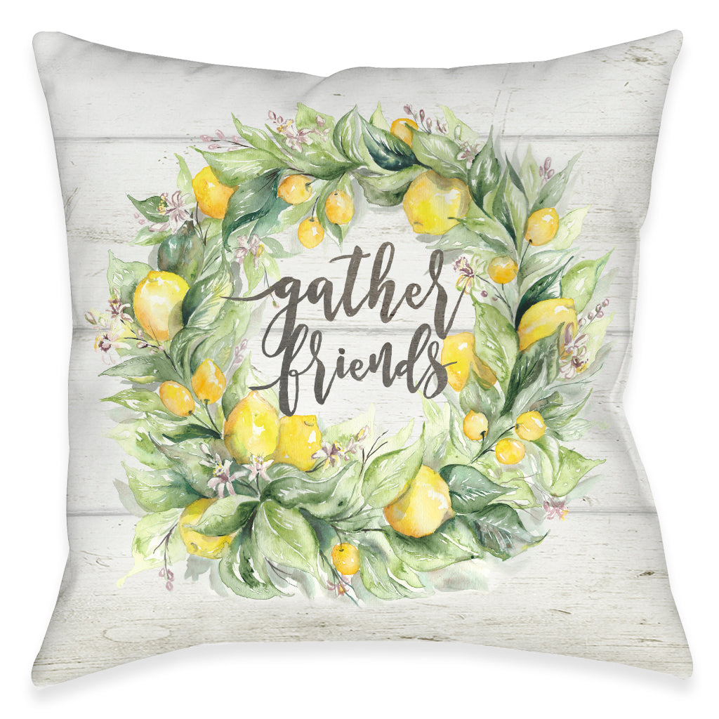 Gather Friends Outdoor Decorative Pillow