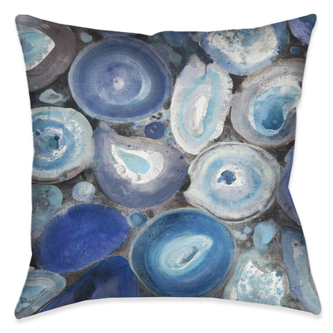 Blue Geode Indoor Decorative Pillow