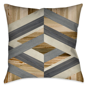Geometric Inlay II Indoor Decorative Pillow