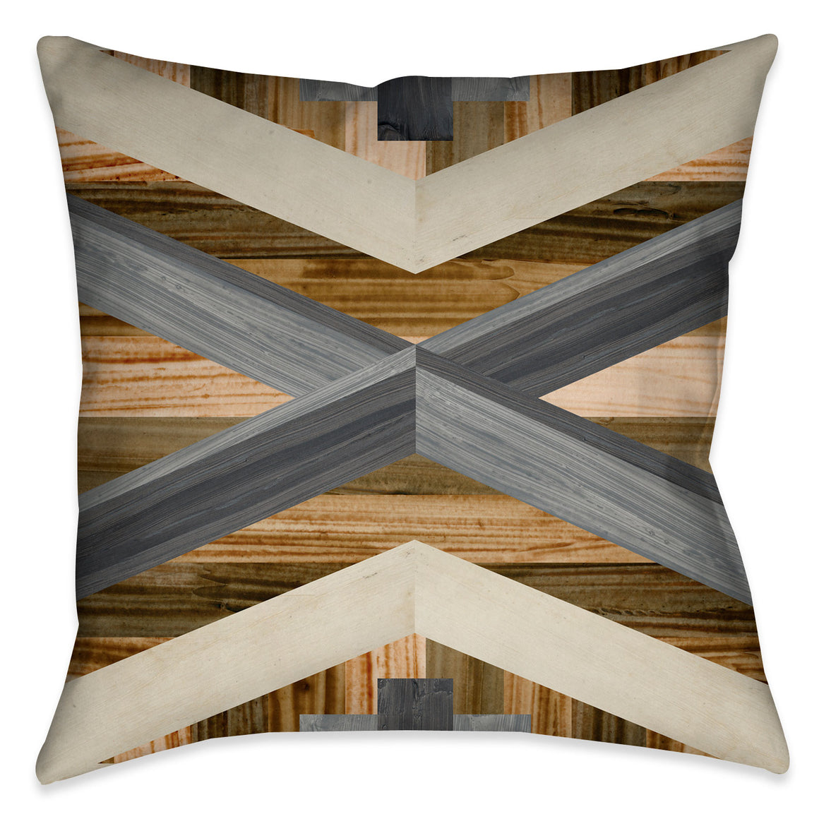 Geometric Inlay I Outdoor Decorative Pillow