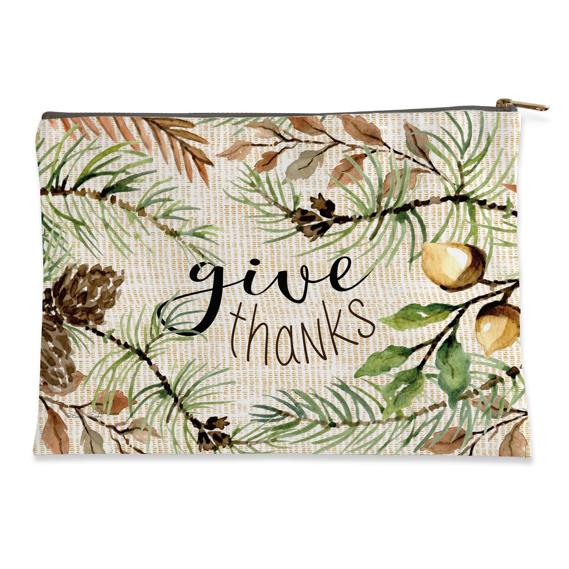 Give Thanks Flat Pouch