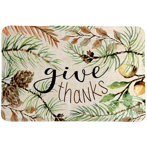 Give Thanks Memory Foam Rug