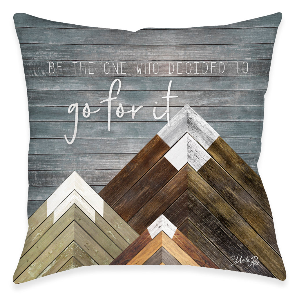 Go For It Outdoor Decorative Pillow