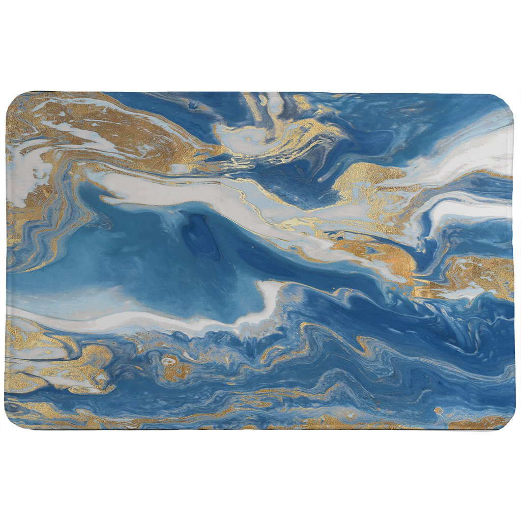 Blue and Gold Serenity Memory Foam Rug