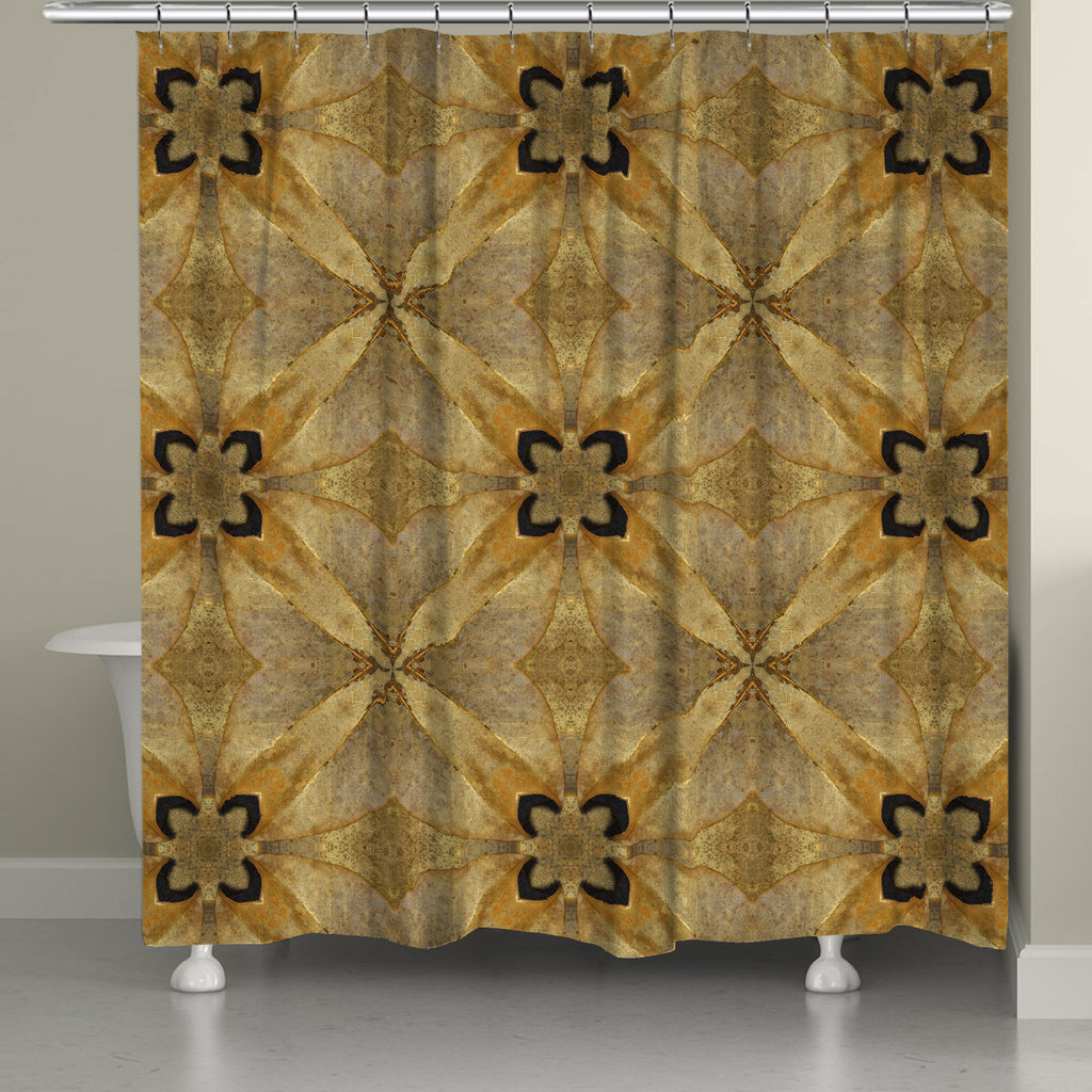 Golden Magnolia Shower Curtain