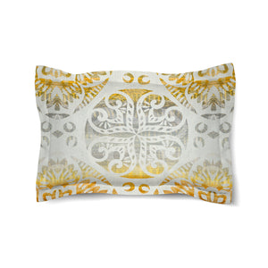 Golden Medallion Comforter Sham