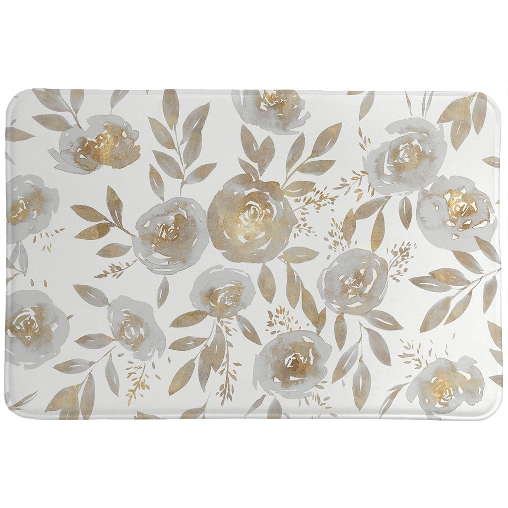 Golden Rose Garden Memory Foam Rug