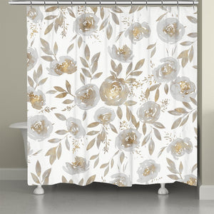 Golden Rose Garden Shower Curtain