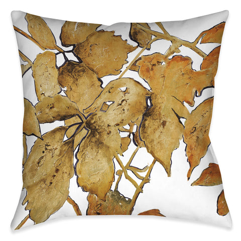 Gold Shadows Indoor Decorative Pillow