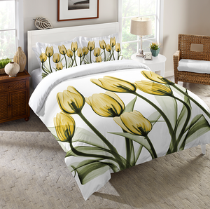 Golden X-Ray Tulips Comforter