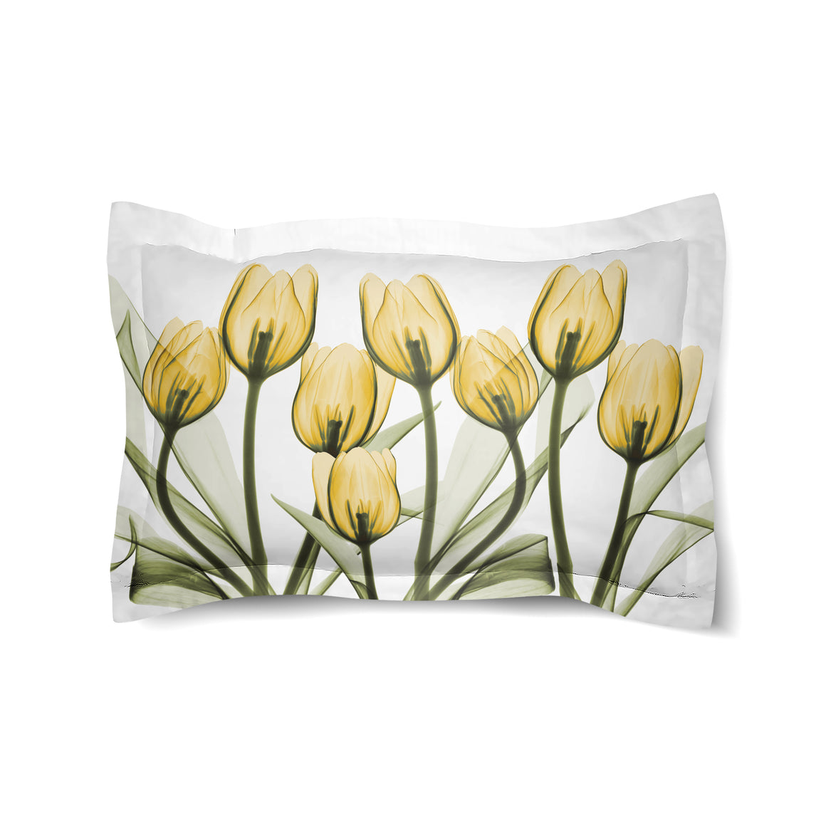 Golden X-Ray Tulips Comforter Sham
