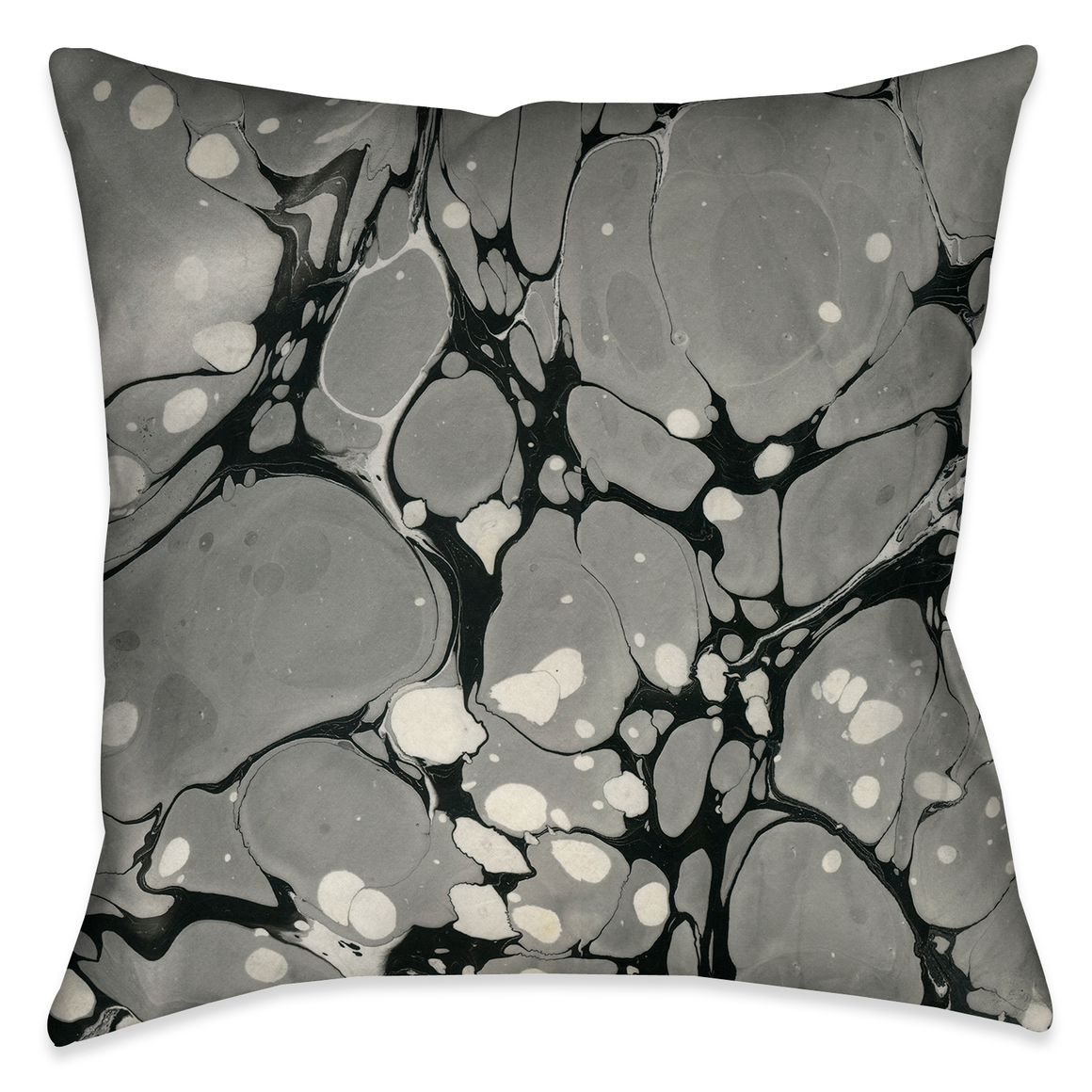 Gray Marble Outdoor Decorative Pillow