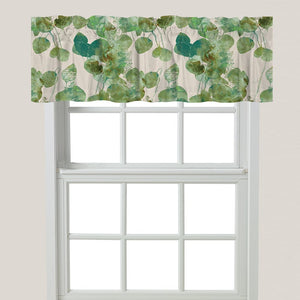 Green Watercolor Eucalyptus Window Valance