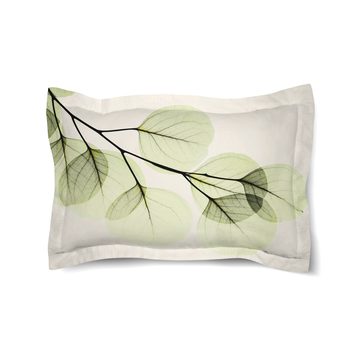 Green X-Ray of Eucalyptus Leaves Duvet Sham