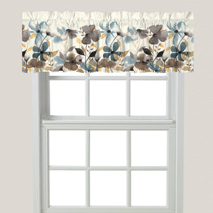 Greige Florals Window Valance
