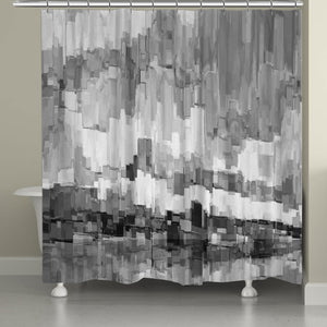 Grey Glacier Shower Curtain