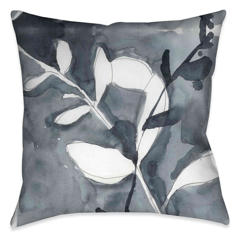 Grayscale Branches I Outdoor Decorative Pillow