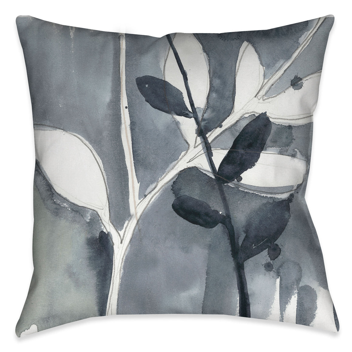 The neutral shades of gray tones in this decorative pillow would make a perfect addition to any contemporary bedroom or living room decor.