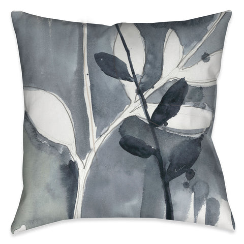 Grayscale Branches II Outdoor Decorative Pillow